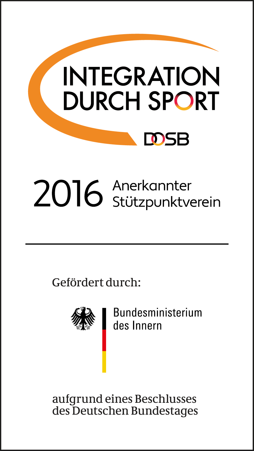 Logo Integration durch Sport 2016